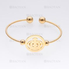 pulsera de corona imperial de dorado en acero- SSBTG465503