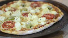 Pizza com Massa de Iogurte - Pronta em 5 minutos