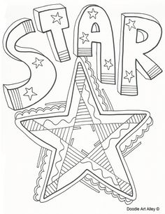 Star Coloring Page - (classroomdoodles)