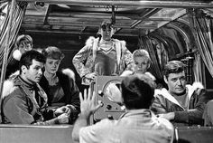 The cast taking directions - Lost in Space