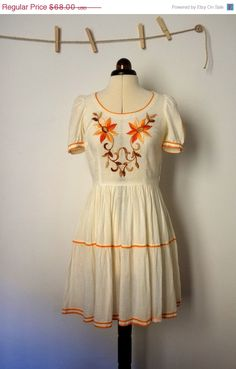 White Cotton Dress by vintagefables