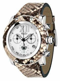 Glam Rock Women's GR10176D1 Miami Collection Chronograph Diamond Accented Brown Python Watch