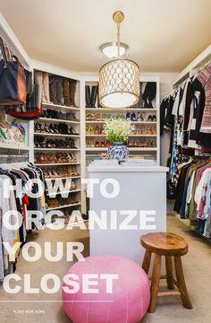 How to Organize Your Closet (Honey We're Home) Closet Hacks, Closet Tour, How To Organize Your Closet, Organizing Your Home, Master Bedroom Closet, Master Bedrooms, Closet Designs, Closet Space, Diy On A Budget