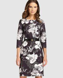 Vestido guateado de mujer Antea con estampado floral
