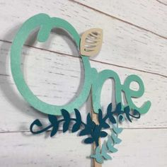 Excited to share the latest addition to my shop: First birthday Cake topper - birthday - birthday - Mint green - Leaves - One - party decor - centrepiece First Birthday Cake Topper, Custom Wedding Cake Toppers, Centerpiece Decorations, Themed Cakes, 1st Birthday Parties, First Birthdays, Green Leaves, Handmade Gifts, Mint Party