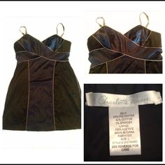 BLACK AND BLUE PARTY DRESS NEVER WORN, NWOT, SMOKE &PET FREE HOME, PERFECT CONDITION Charlotte Russe Dresses