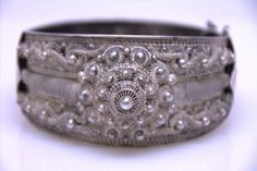 shopgoodwill.com: Vintage 82g Filigree-Style Sterling Cuff Bracelet