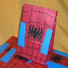 Spiderman treat bags.