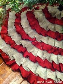 Art Ruffle Tree Skirt (No Sew) craft-ideas