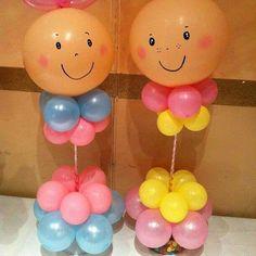decoración con globos para baby shower31