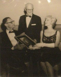 """Marilyn with husband Arthur Miller at a """"American Friends of Hebrew University"""" charity event, 27 September 1959."""