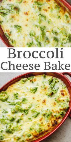 Broccoli Cheese Bake is a delicious creamy and cheesy broccoli casserole, the perfect side dish for any meal. #broccoli #casserole #cheese #side dish #broccoliandcheese