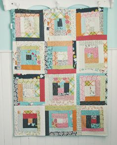 Blue Elephant Stitches: Lucy's Crab Shack Quilt (quilt as you go using a jelly roll - great way to use those!!)