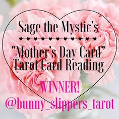 "And the winner of the ""Mother's Day Card"" Tarot Card Reading is @bunny_slippers_tarot!! Thank you so much for participating in this contest/giveaway! Please expect a DM with instructions on how to redeem your free reading!  #tarot #tarotcards #tarotmystic #tarotreading #tarotandchill #dailytarot #tarotlover #cardoftheday #cartomancy #enlightened #onelove #divination #tarotreadersofinstagram  #tarotcommunity #oraclereadersofinstagram #oraclecards #oraclereading #sage #palosanto #sagethemystic…"