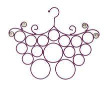 Organiz-Her Butterfly Jeweled Purple Scarf Holder