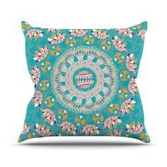 "Miranda Mol ""Luscious"" Blue Pink Outdoor Throw Pillow from KESS InHouse"