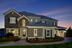 The Ryland Group. Lewiston floor plan. 5 bedrooms, 4.5 bath. As you enter the home you are greeted by the large open two story foyer and dining room. #POH2014 #OrlandoHomes #Orlando