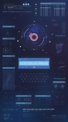 Motion Graphics elements from user interface used on an interactive installation in the art museum of Agen.