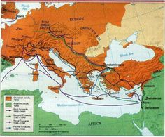 a map of the first four crusades