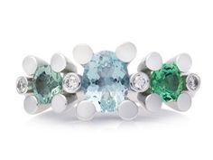 - Fine Dutch Jewelry - Phlox ring by Bron Jewelry. #juwelen #bron #bronarsenaal #schoonhoven #zilver #diamant #edelsteen #diamond