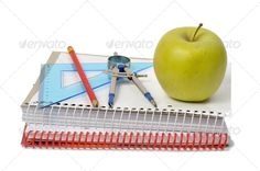Realistic Graphic DOWNLOAD (.ai, .psd) :: http://sourcecodes.pro/pinterest-itmid-1006813165i.html ... School Accessories ...  apple, books, compasses, eating, education, food, green, healthy, pencil, school, tools  ... Realistic Photo Graphic Print Obejct Business Web Elements Illustration Design Templates ... DOWNLOAD :: http://sourcecodes.pro/pinterest-itmid-1006813165i.html