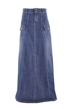 Style J Appealing in Cargo Denim Skirt Modest Outfits, Skirt Outfits, Modest Fashion, Dress Skirt, Ladies Outfits, Beautiful Long Dresses, Denim Fashion, Couture, Look