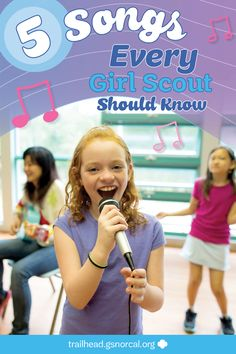 From Hermie the Wormie to Boom Chicka Boom, these Girl Scout songs are classics! So whether you're looking for a song for your opening ceremony, a chant to break up the monotony of a meeting, or a cheerful campfire tune, here are 5 songs every Girl Scout Girl Scout Camp Songs, Girl Scout Daisy Activities, Girl Scout Camping, Girl Scout Crafts, Girl Scout Swap, Daisy Girl Scouts, Girl Scout Leader, Girl Scout Troop, Girl Scout Daisies