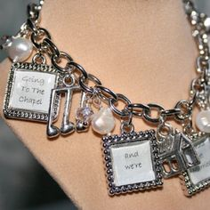 Going To The Chapel Charm Bracelet w Geniune FW Pearls & Crystals