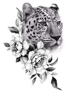Tattoo Femeninos, Forarm Tattoos, Dope Tattoos, Pretty Tattoos, Black Tattoos, Tatoos, Cheetah Tattoo, Tiger Tattoo, Lion Tattoo Sleeves