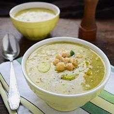 Jamie Oliver's delicious Chickpea and Leek Soup with Parmesan cheese | perfect for winter and is a vegetarian meal