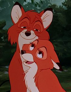 *TOD & VIXIE ~ The Fox and the Hound, 1981