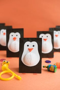 Penguin Favor Bags