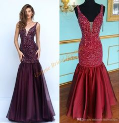 2016 Sexy Prom Dresses Major Beading With Plunging Neckline And Backless Real Picture Sherri Crystal Chiffon Mermaid Style Pageant Gown Prom Dress Ideas Prom Dress Online From Uniquebridalboutique, $152.92| Dhgate.Com