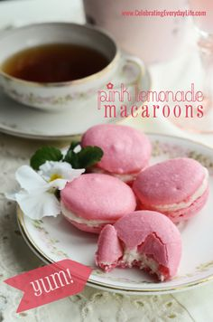 Pink Lemonade Macarons Recipe, Sucre Macaron Challenge, How to Make French Macarons, Celebrating Everyday Life with Jennifer Carroll - For the past few days I have been having a craving for Macrons! Lemonade Beyonce, E Cooking, Cookie Recipes, Dessert Recipes, Dessert Food, Macaron Flavors, Macaron Filling, Macaron Cookies, French Macaroons