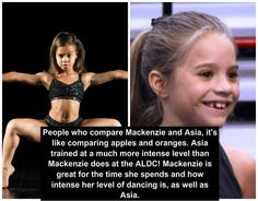 """""""comparing Mackenzie and Asia is like comparing apples and oranges...APPLES ARE BETTER!"""""""