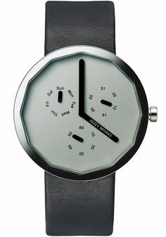 """Issey Miyake SILAP020 Grey Chronograph Twelve    The modernist """"Twelve"""" line from Issey Miyake was designed by Naoto Fukasawa, known for his innovative groundbreaking creations and approach to design"""