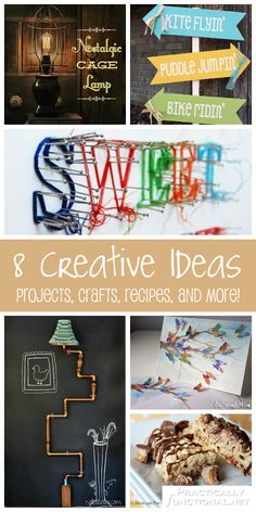 8 Creative Ideas! Projects, crafts, recipes, and more! #diy #crafts #recipes