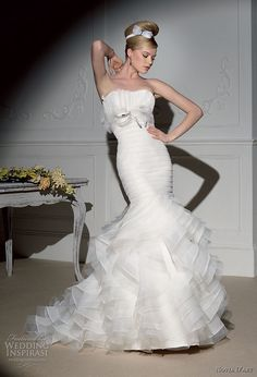 Novia D'art wedding dress 2011 bridal collection - ruffle mermaid style strapless gown