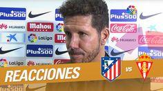 """Interview to Simeone: """"Hoy tuvimos la suerte de que los goles apareciero..."""