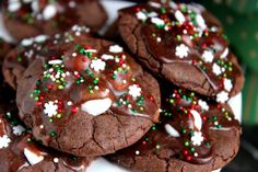 Hot Chocolate Cookies -- Hot Chocolate Cookies are so popular in our family that I end up making dozens and dozens for family members during the holidays! They're rich chocolate cookies with melted marshmallows stacked on top with a chocolate glaze drizzle and sprinkles to finish them off.