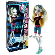 Mattel Year 2012 Monster High Dead Tired Series 11 Inch Doll - LAGOONA BLUE Daughter of The Sea Monster with Pair of Slippers and Pink Mug