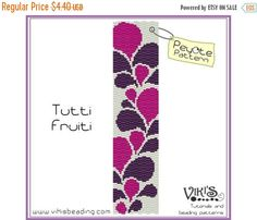 25% off SALE Peyote Pattern: Tutti Fruiti by VikisBeadingPatterns