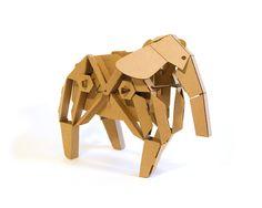 Elly the Elephant - walking cardboard animals