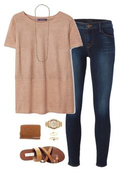 """camel&&gold"" by tessorastefan ❤ liked on Polyvore featuring J Brand, Steve Madden, Violeta by Mango, Chan Luu, Tory Burch, MICHAEL Michael Kors and Kate Spade"