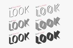 Bend Typeface + free font on Behance