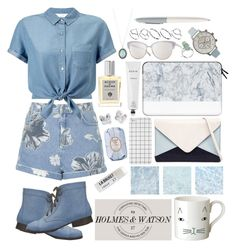 """6/6/16"" by green-jello ❤ liked on Polyvore featuring Topshop, Miss Selfridge, Acqua di Parma, Casetify, Armenta, Olivia Burton, Rodin, Oliver Peoples, Jendi and ASOS"
