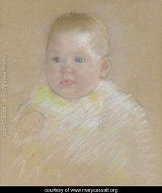 Head of a Baby - Mary Cassatt -