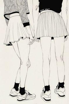 Kaethe Butcher black and white illustration from I Love Illustration #illustration #girls