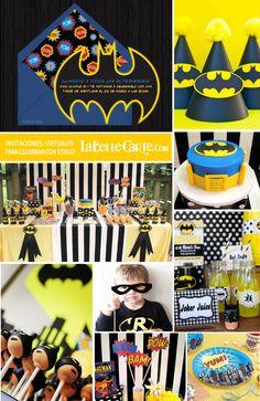 Invitaciones fiesta infantil Batman Superheroe Super heroe Tarta Cupcakes Cakepops  Invitaciones para fiestas infantiles muy originales en www.LaBelleCarte.com  Batman Party Superhero Online invitations Batman Cake Ideas Decoration Cupcakes Cakepops  Online Invitations at: www.LaBelleCarte.com/en/