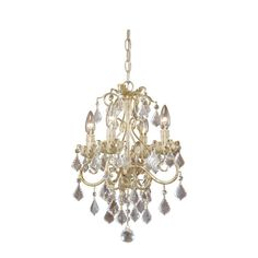 NEW Light Crystal Chandelier OR Semi Flush Mount Ceiling Lighting Fixture White #Vaxcel #Traditional